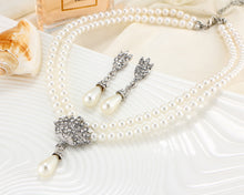 Load image into Gallery viewer, Pearl Crystal Jewelry Set!