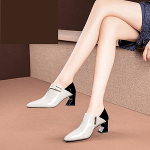 Leather High Heels Women's Shoes!