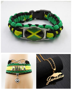 "Leather ""Infinity Love for Jamaica"" Bracelet!"