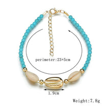 Load image into Gallery viewer, Seashell and Beads Anklets for Women!