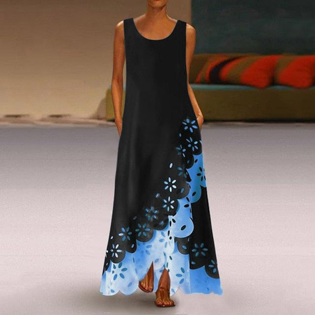 Sleeveless Beach Maxi Dress for Women!