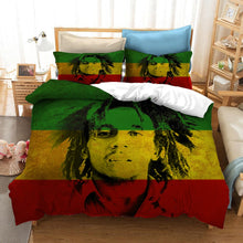Load image into Gallery viewer, 3D Bob Marley Printed Bedding Set!