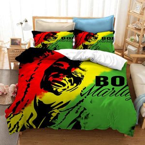 3D Bob Marley Printed Bedding Set!