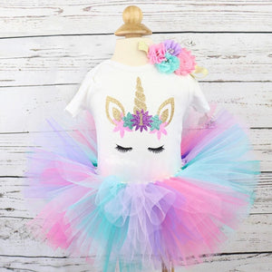 Girl's Unicorn Dresses for 1st Birthday!