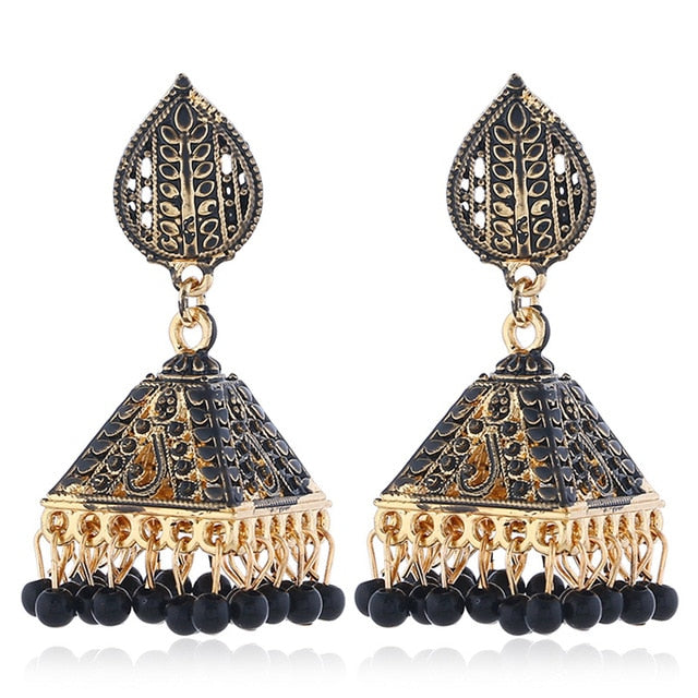 Vintage Luxury Tassel Beaded Dangle Drop Earrings!