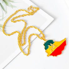 Load image into Gallery viewer, Ethiopian Flag Chain With Lion of Judah for Women and Men!