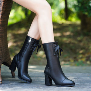 Soft Leather High Heel Boots for Women!