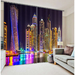 3D Photo Printing Living Room and Bedroom Window Blackout Curtains!