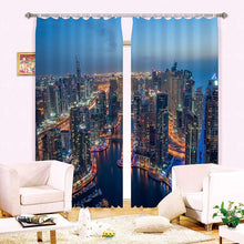 Load image into Gallery viewer, 3D Photo Printing Living Room and Bedroom Window Blackout Curtains!