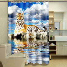 Load image into Gallery viewer, 3D Shower Curtains with Animal Print!