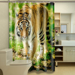 3D Shower Curtains with Animal Print!
