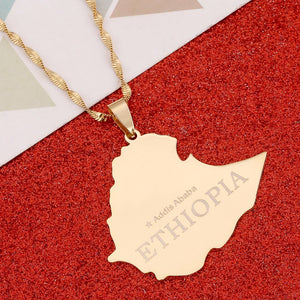 Ethiopia, Addis Ababa Gold-Plated Necklace!