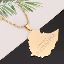 Load image into Gallery viewer, Ethiopia, Addis Ababa Gold-Plated Necklace!
