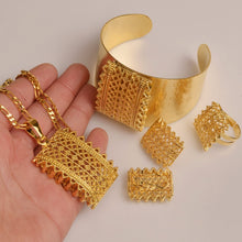 Load image into Gallery viewer, Habesha (Ethiopian and Eritrean) Gold Plated Jewelry Set For Women!