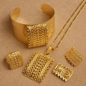 Habesha (Ethiopian and Eritrean) Gold Plated Jewelry Set For Women!