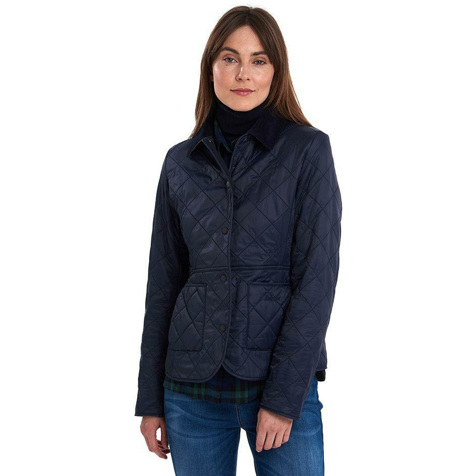 Barbour Deveron Polarquilt Jacket - Navy - Beales department store