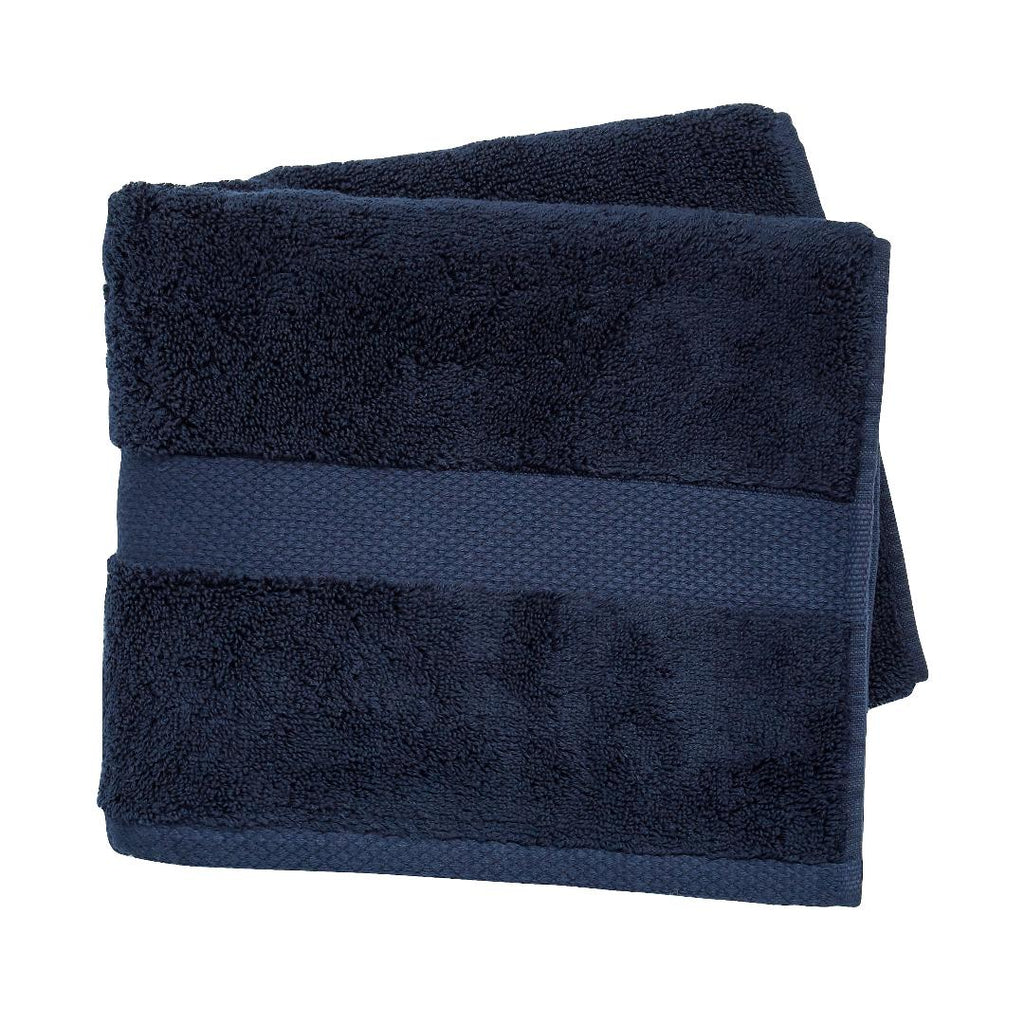 Peacock Blue Hotel Savoy Bath Towel Midnight - Beales department store