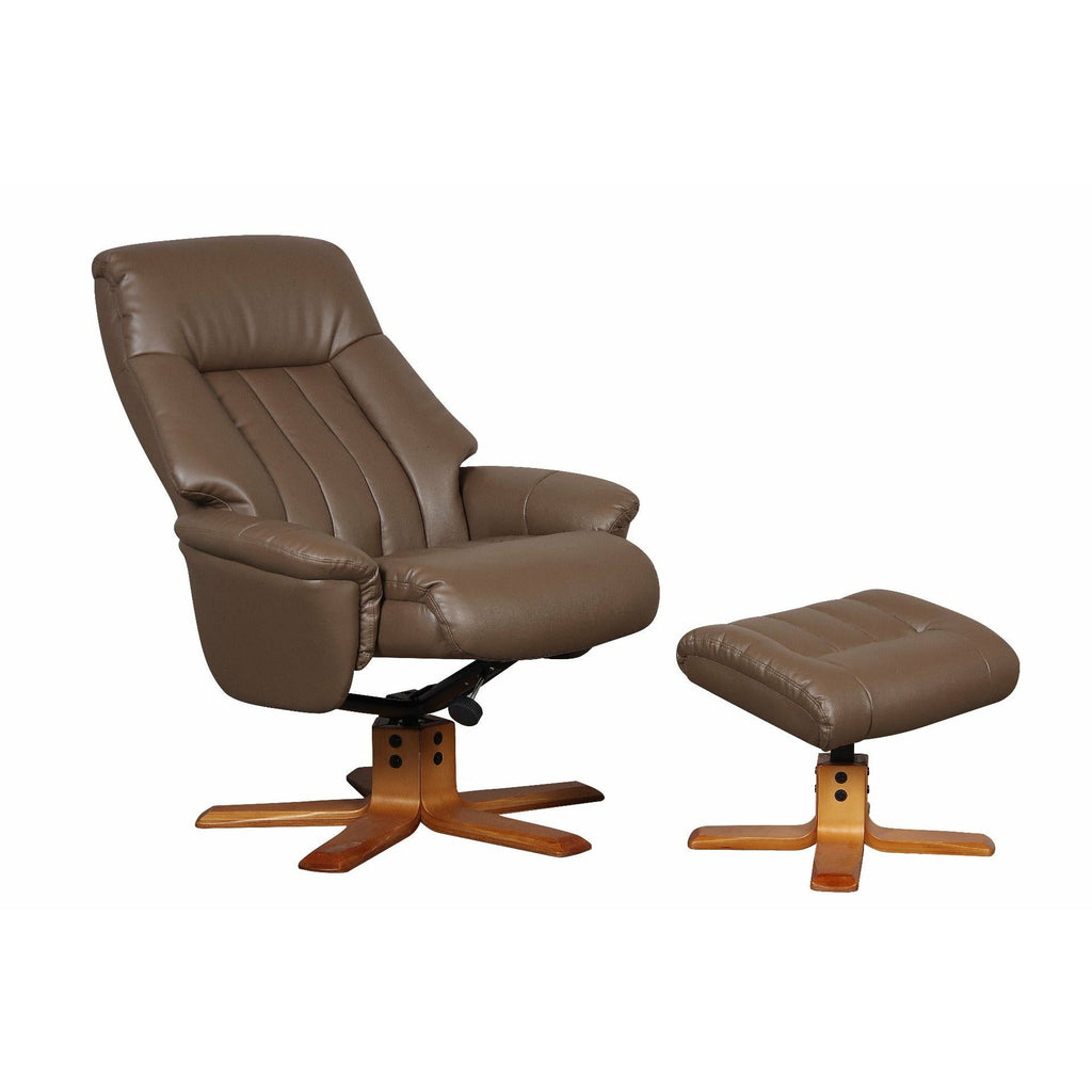St Tropez Swivel Recliner Chair Truffle Plush - Beales department store