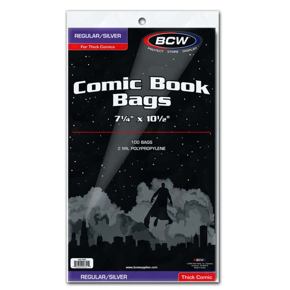 Bcw Silver Comic Bags (Thick) (Polyproylene) Supplies published by Bcw Supplies