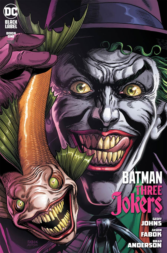 Batman Three Jokers (2020 DC) #1 Premium Variant B Jason Fabok Joker Fish Cover (NM) Comic Books published by Dc Comics