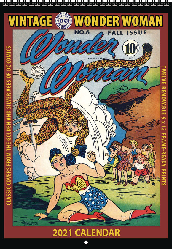 Vintage Dc Comics Wonder Woman 2021 Wall Calendar Calendars published by Asgard Press