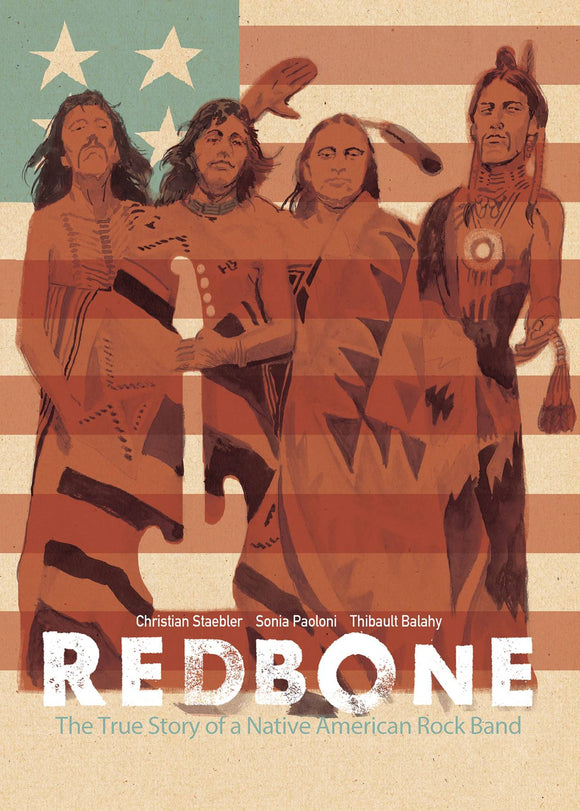 Redbone True Story Native American Rock Band Gn Graphic Novels published by Idw - Top Shelf