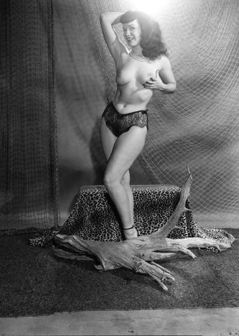 BETTIE PAGE pinup nude 10 8x10