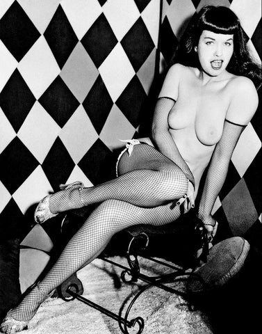 BETTIE PAGE pinup nude 2 8x10