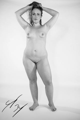 Fine art nude female figure study