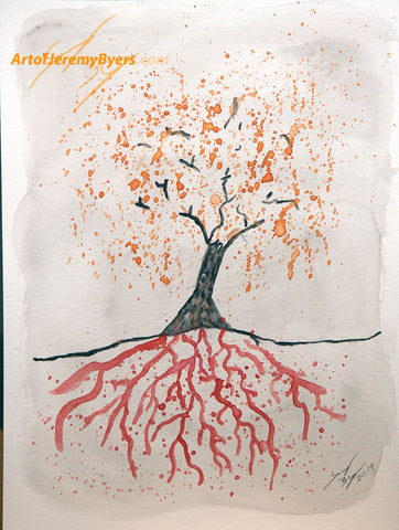 Bloody Roots Original watercolor