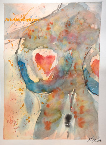 Find love original watercolor