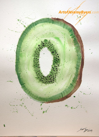 Kiwi origial watercolor