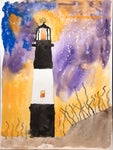 Tybee lighthouse original watercolor