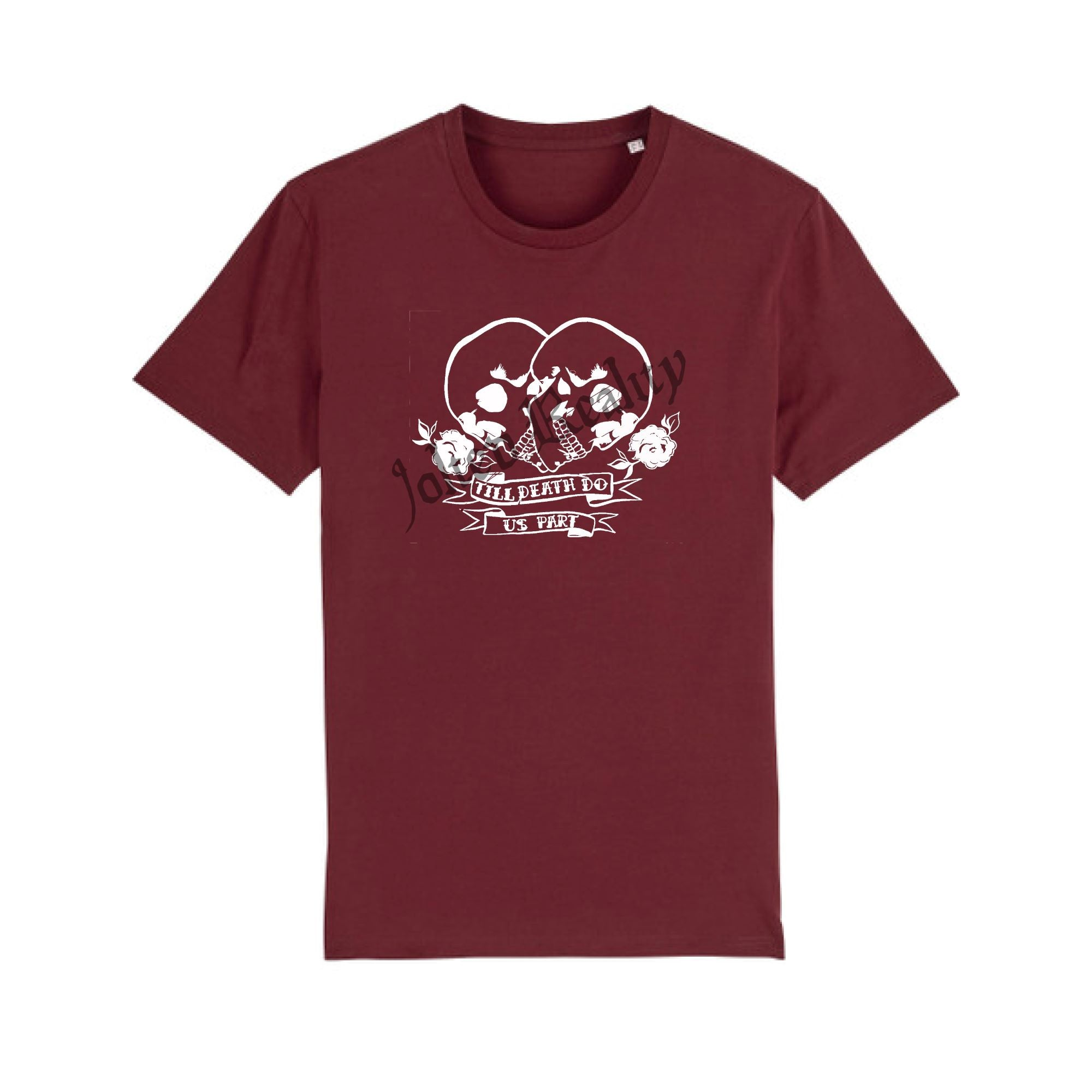 Till Death Do Us Part Burgundy Tee Vegan