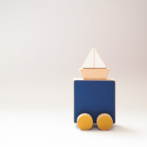 The Wandering Workshop Sea and Boat Push Toy