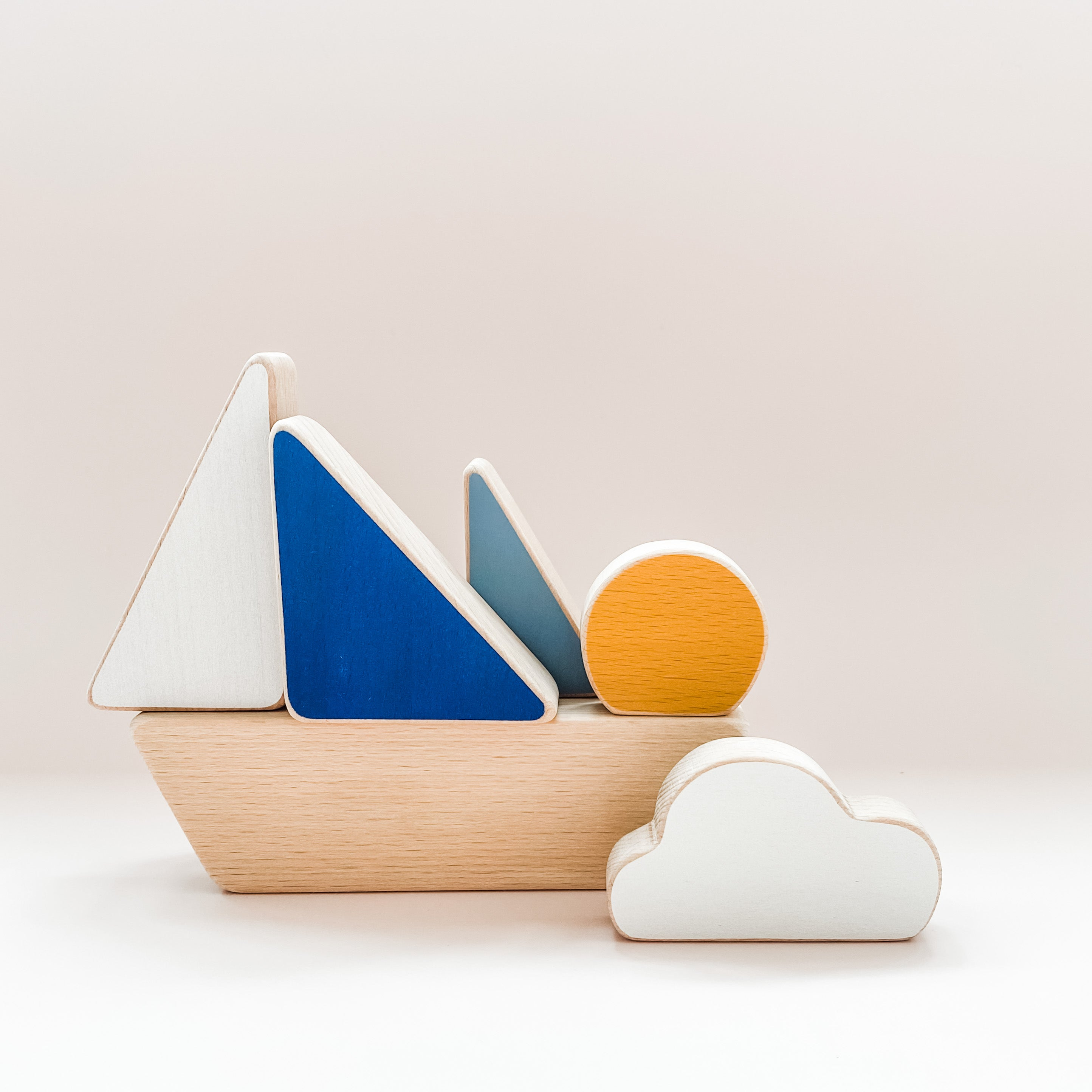 The Wandering Workshop Minimalistic Stacking Boat Toy