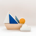 Load image into Gallery viewer, The Wandering Workshop Minimalistic Stacking Boat Toy