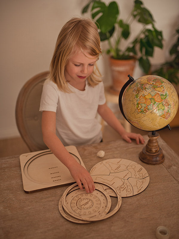 The Earth Is Round Wooden Puzzle