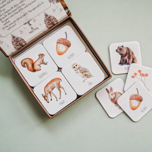 Modern Monty Woodland Memory Card Game