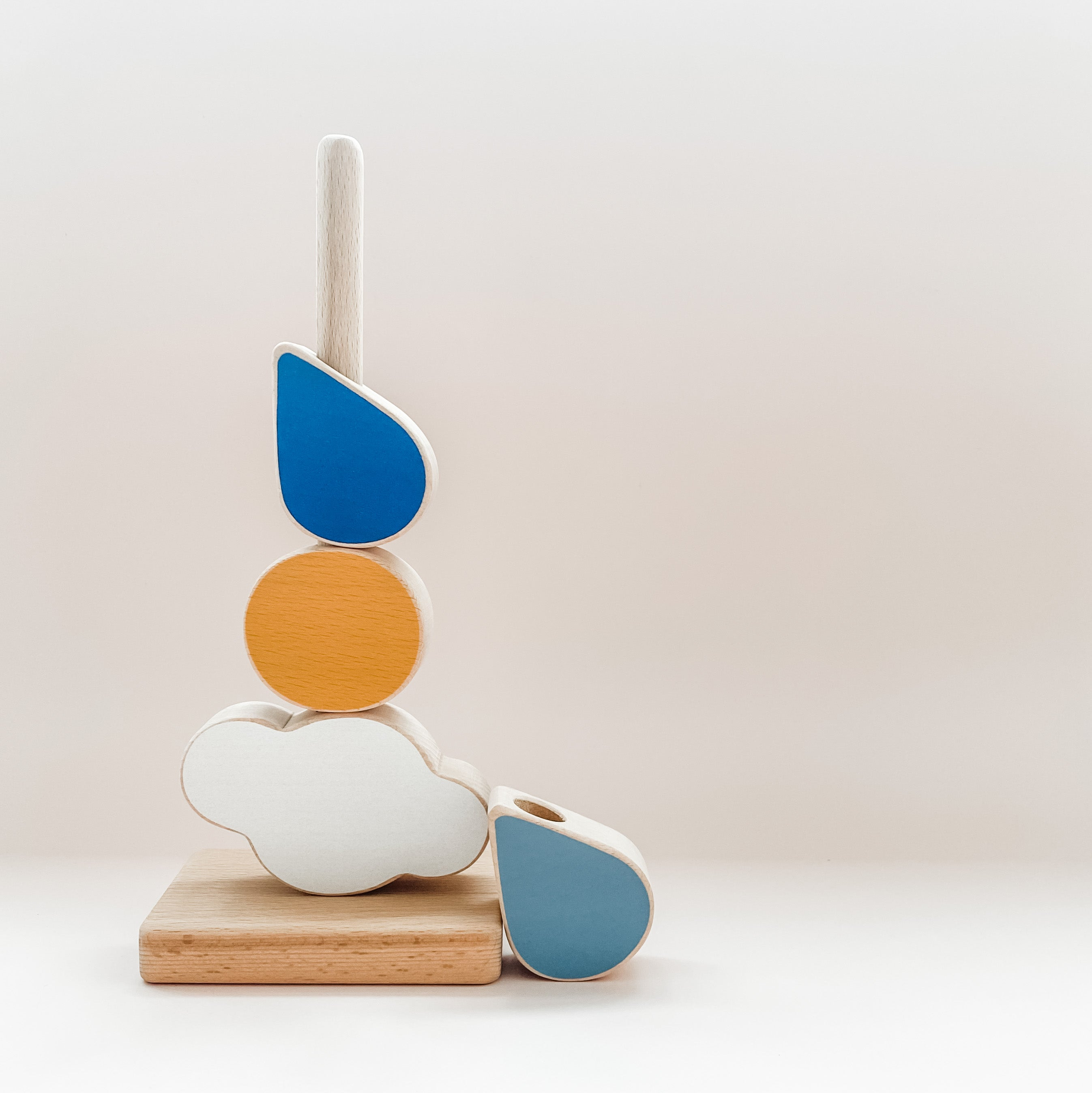 The Wandering Workshop 'Catch the Cloud' Wooden Stacking Toy