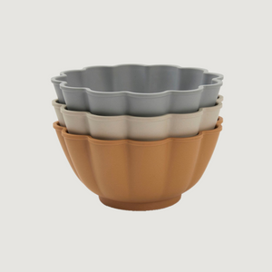 Konges Sløjd Flora 3-pack Bowls - Apricot/Light Blue/Warm