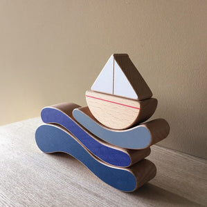 The Wandering Workshop Boat and Waves Stacking Toy