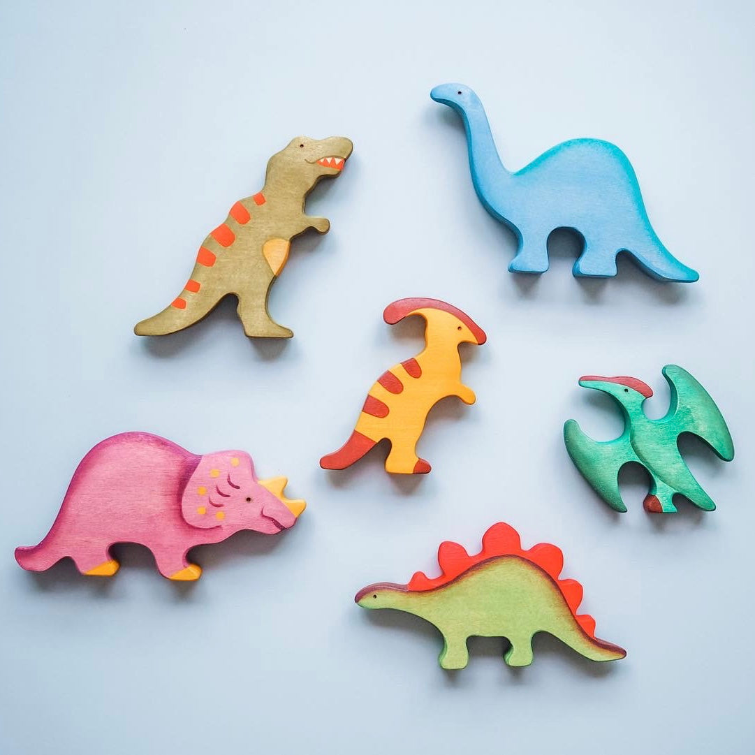 Painted Dinosaurs Set