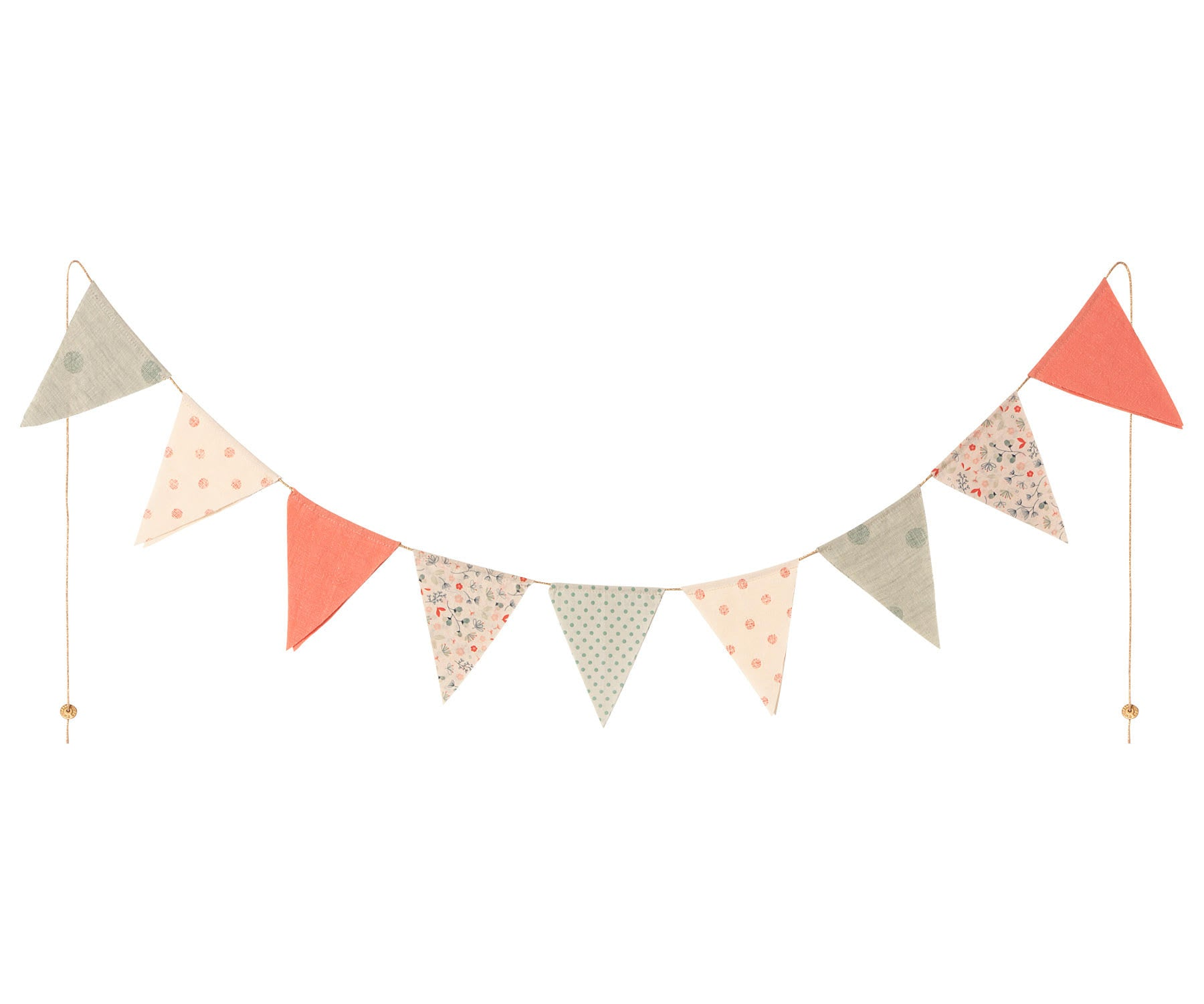 Maileg Garland 9 Flags - Multi Colour