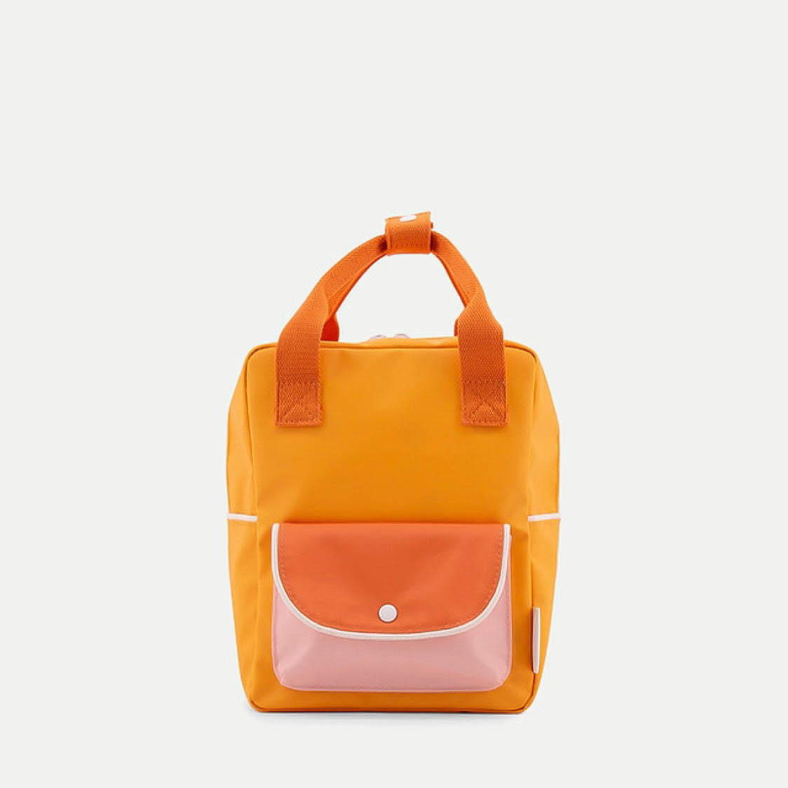 Sticky Lemon Small Backpack Wanderer - Sunny Yellow/Carrot Orange/Candy Pink