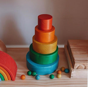 Stacking and Nesting Rainbow Bowls