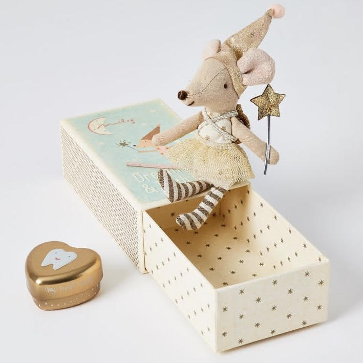 Maileg Tooth Fairy Mouse in Matchbox (Big Sister)