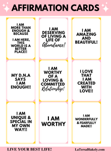 Printable Affirmation Cards | Vision Board Cards | Printable Quotes | I Am Enough