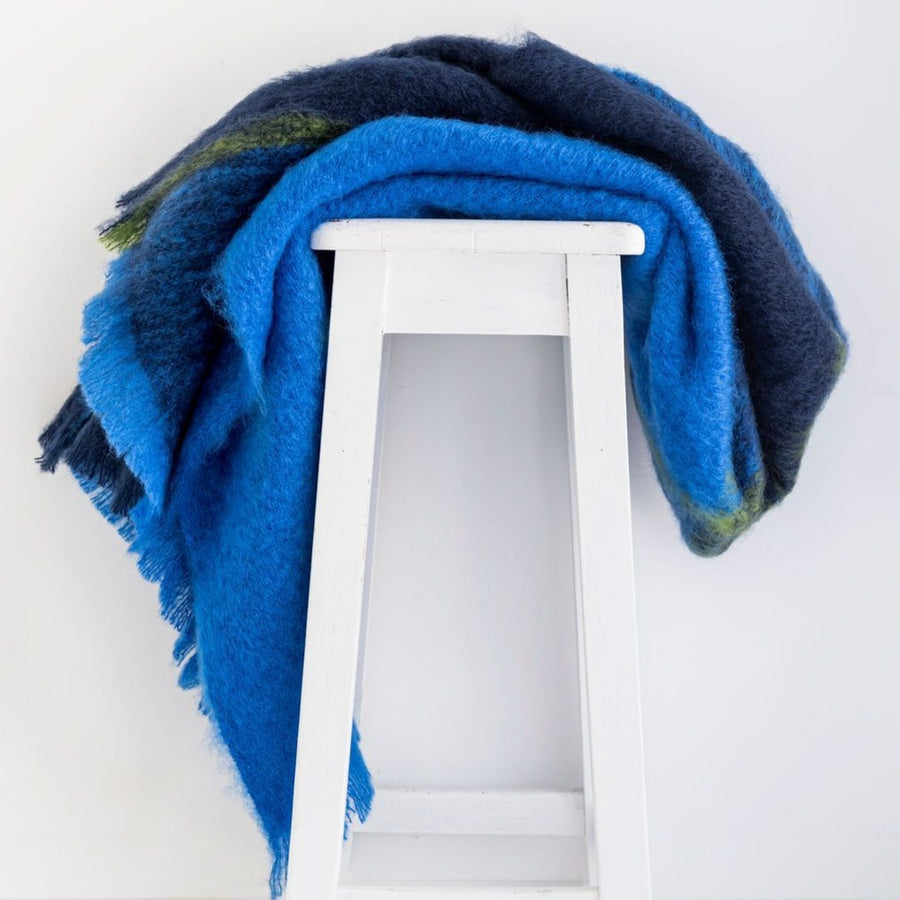 Designer Mohair Throw - Horizon