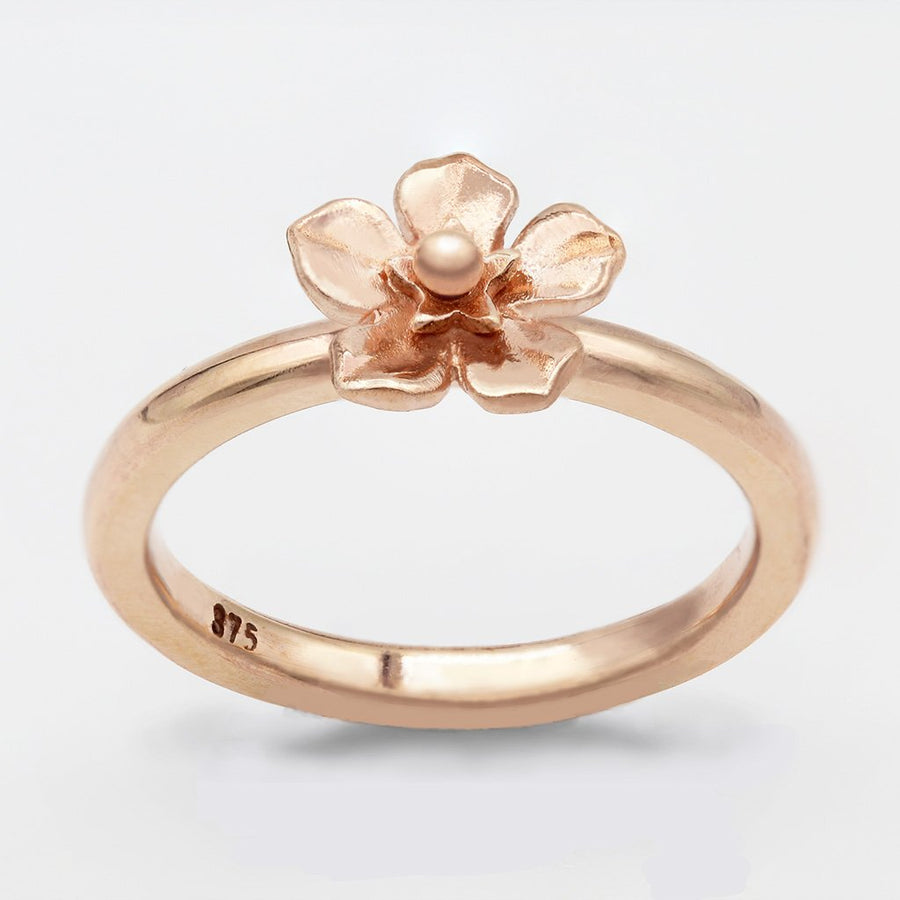 Forget Me Not Ring/ 9ct Rose Gold